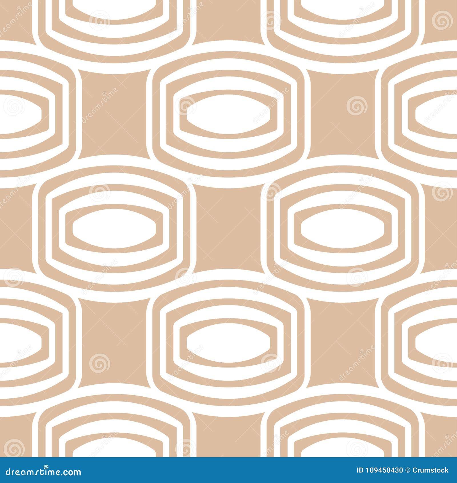 Бежевый и белый геометрический орнамент картина безшовная