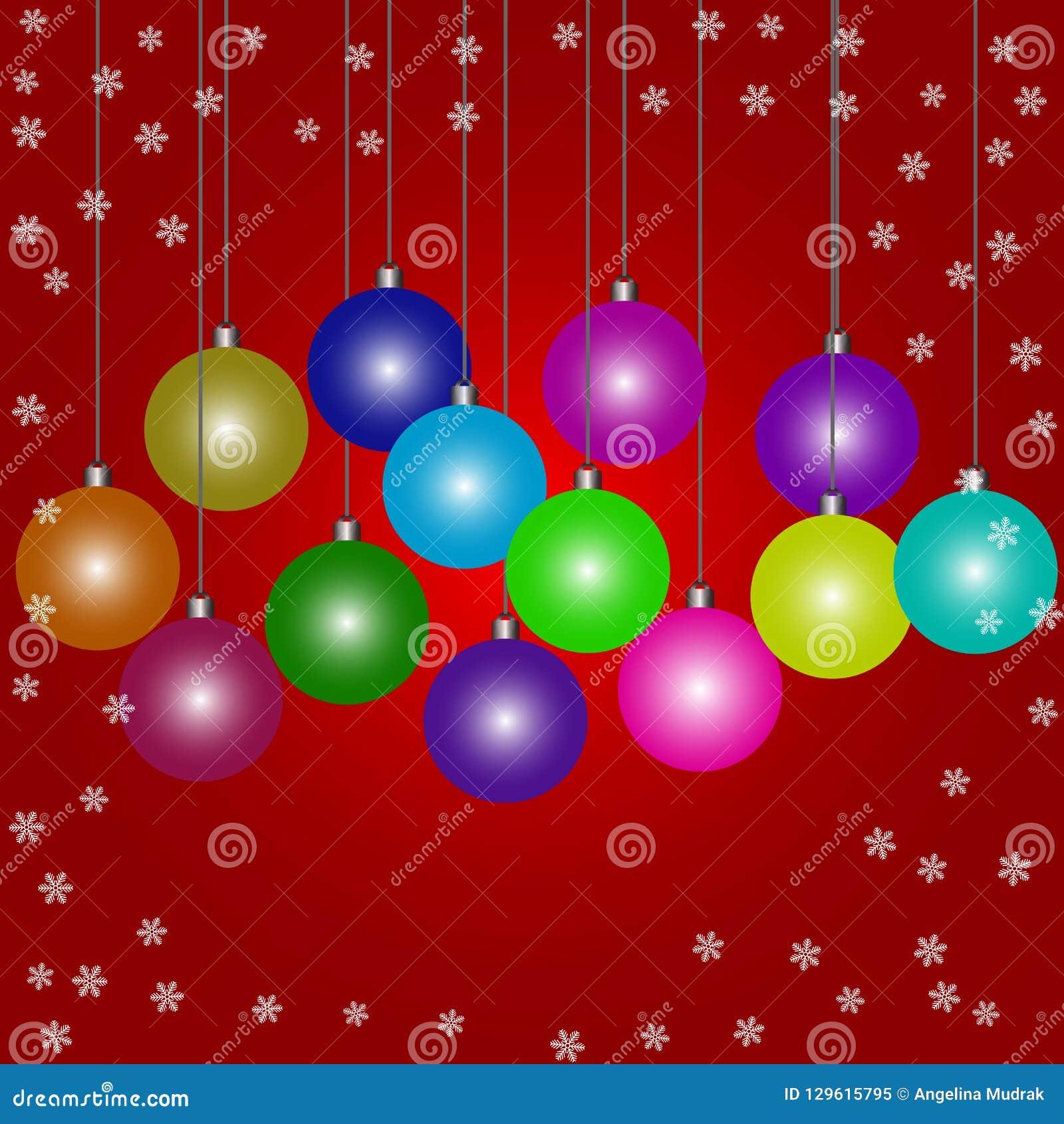 Безделушки рождества Doodle на красной предпосылке a