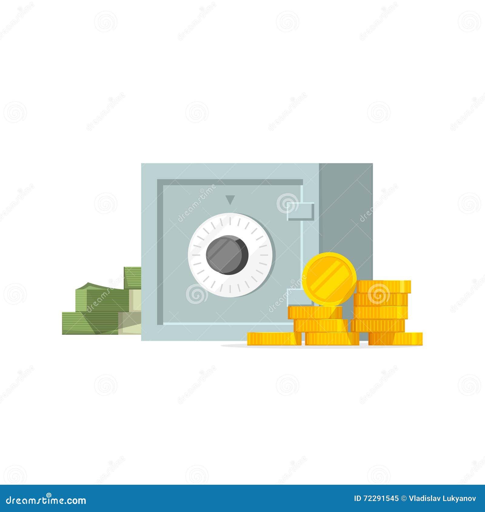 Download Безопасная коробка при иллюстрация вектора денег изолированная на белизне Иллюстрация вектора - иллюстрации насчитывающей конструкция, обеспеченность: 72291545