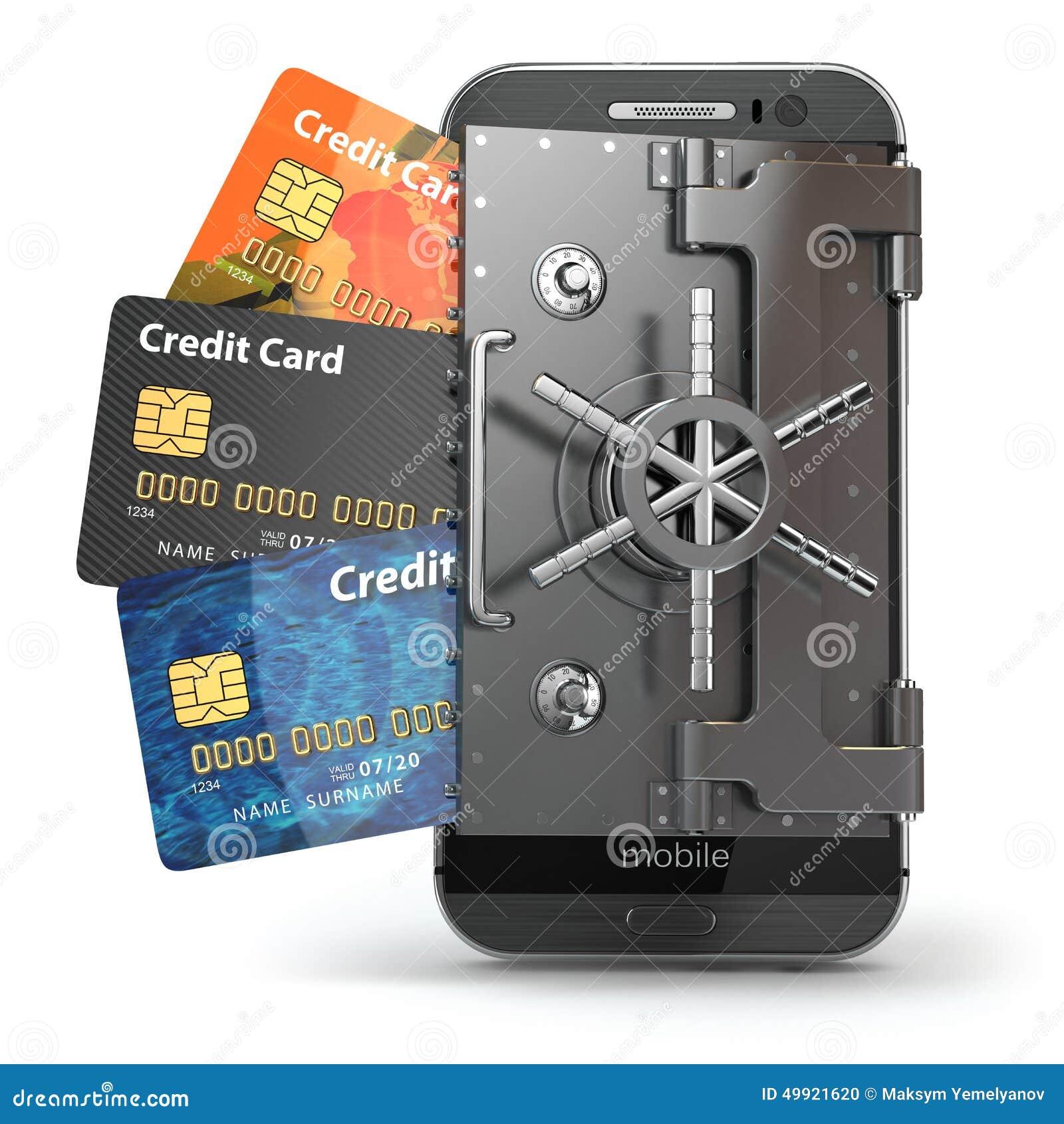 Безопасность передвижной концепции банка он-лайн компенсация обеспеченная Smartph