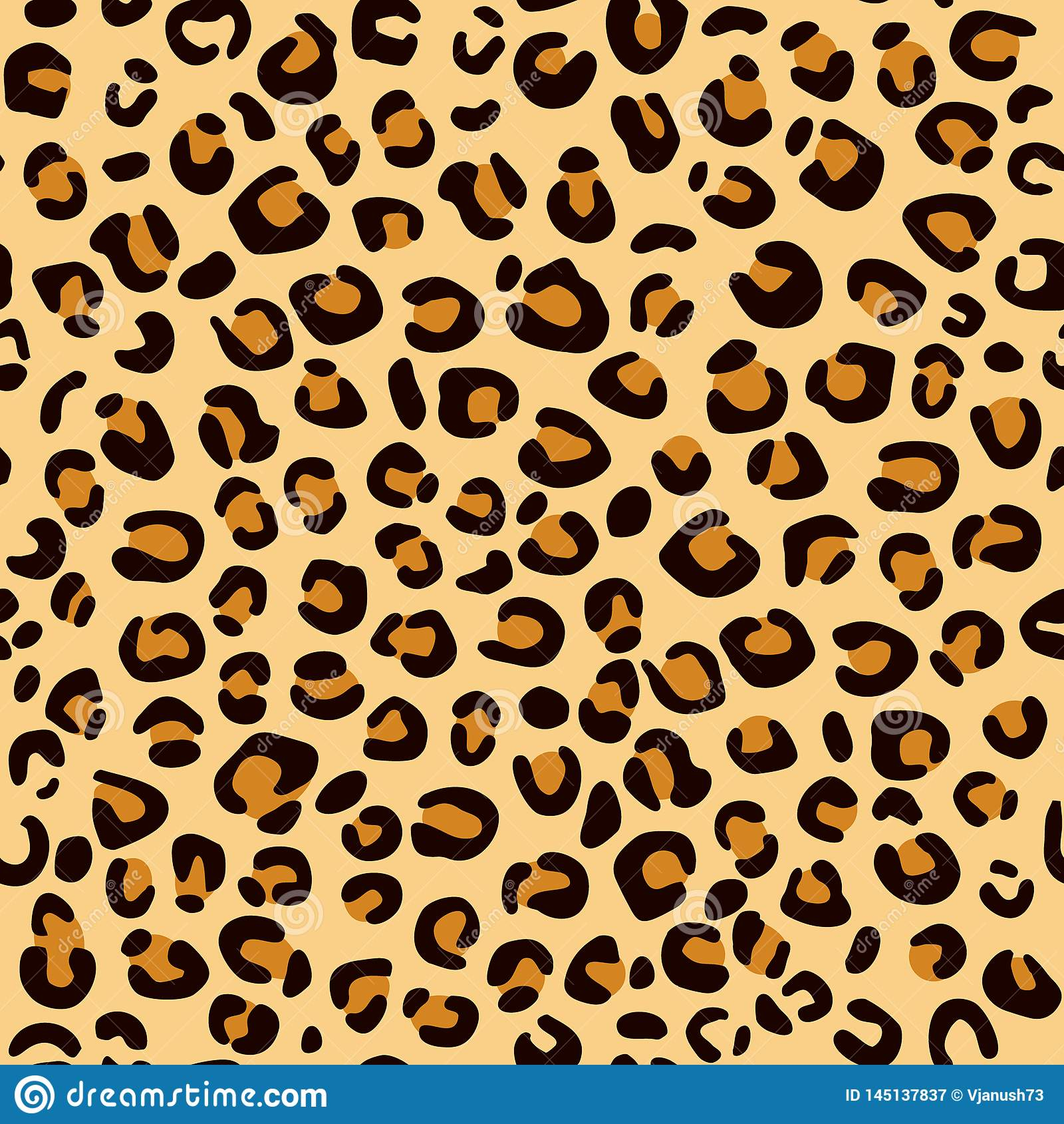 Печать леопарда на коричневой предпосылке