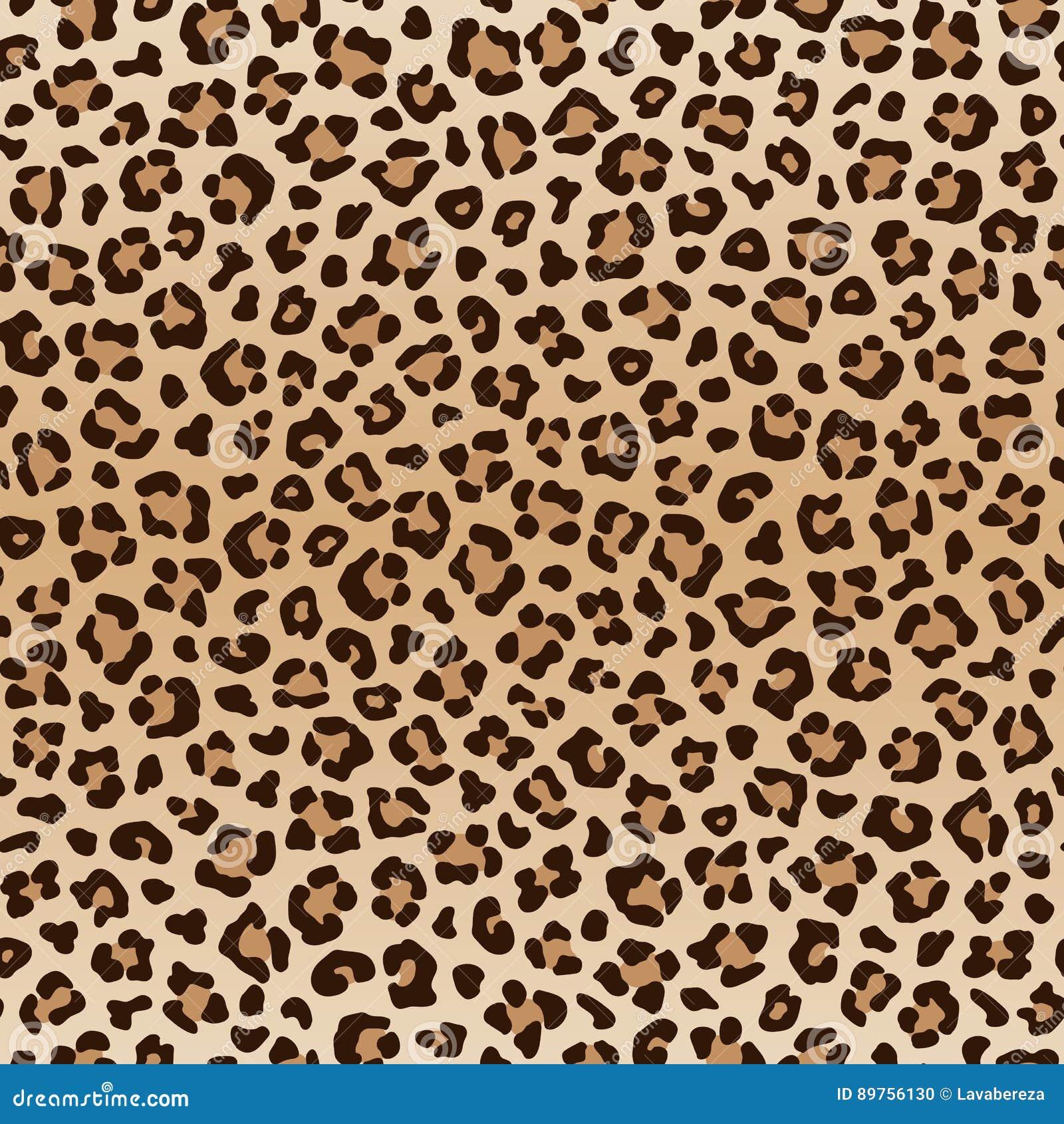 Безшовная животная картина леопарда, вектор