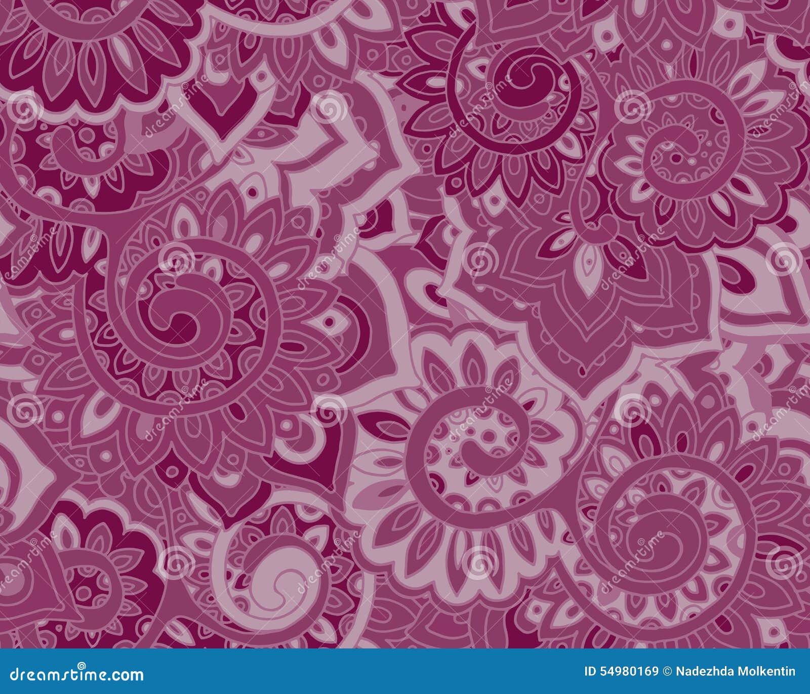 Безшовная картина вектора с традиционными восточными флористическими ornamen