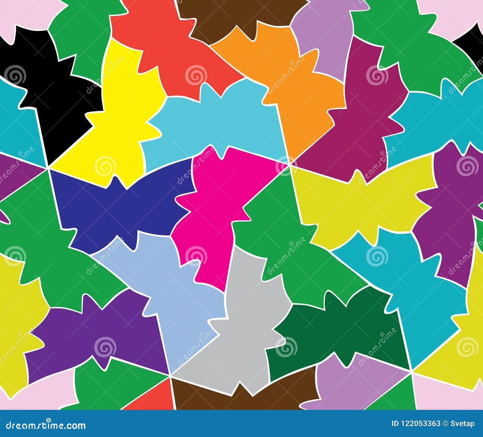 Безшовная картина влюбленности геометрической бабочки