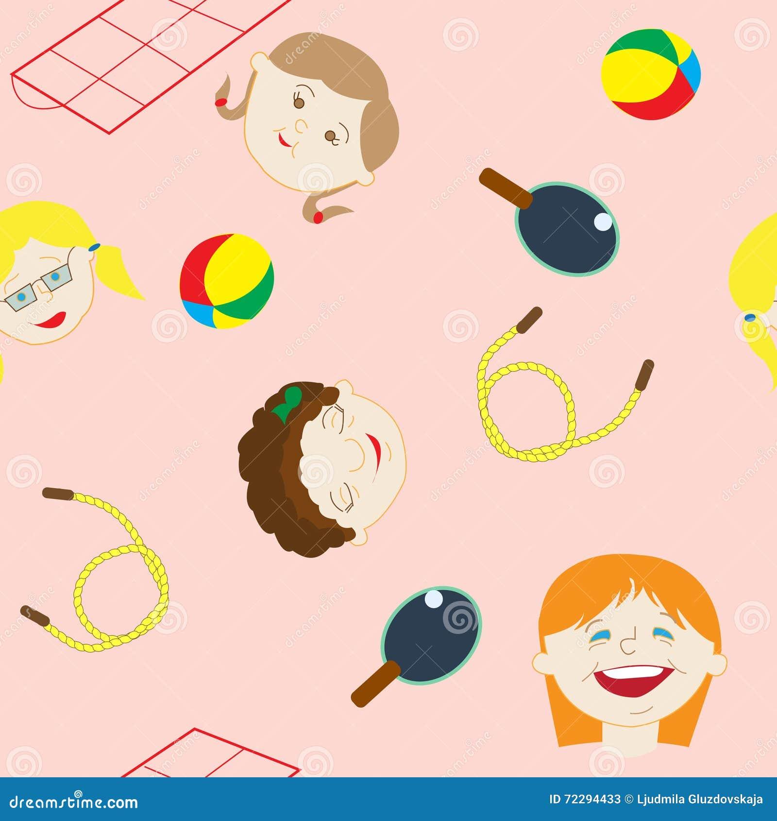 Download Безшовная картина, девушки от нашей улицы Иллюстрация вектора - иллюстрации насчитывающей ballooner, бомб: 72294433