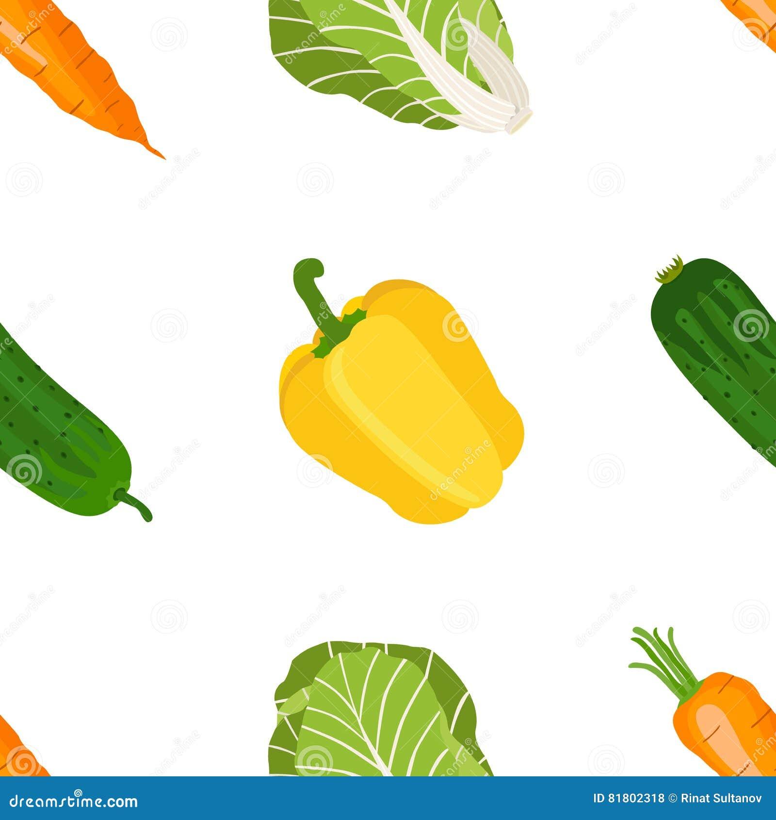 Безшовная картина зрелых овощей от сада Желтое pepp