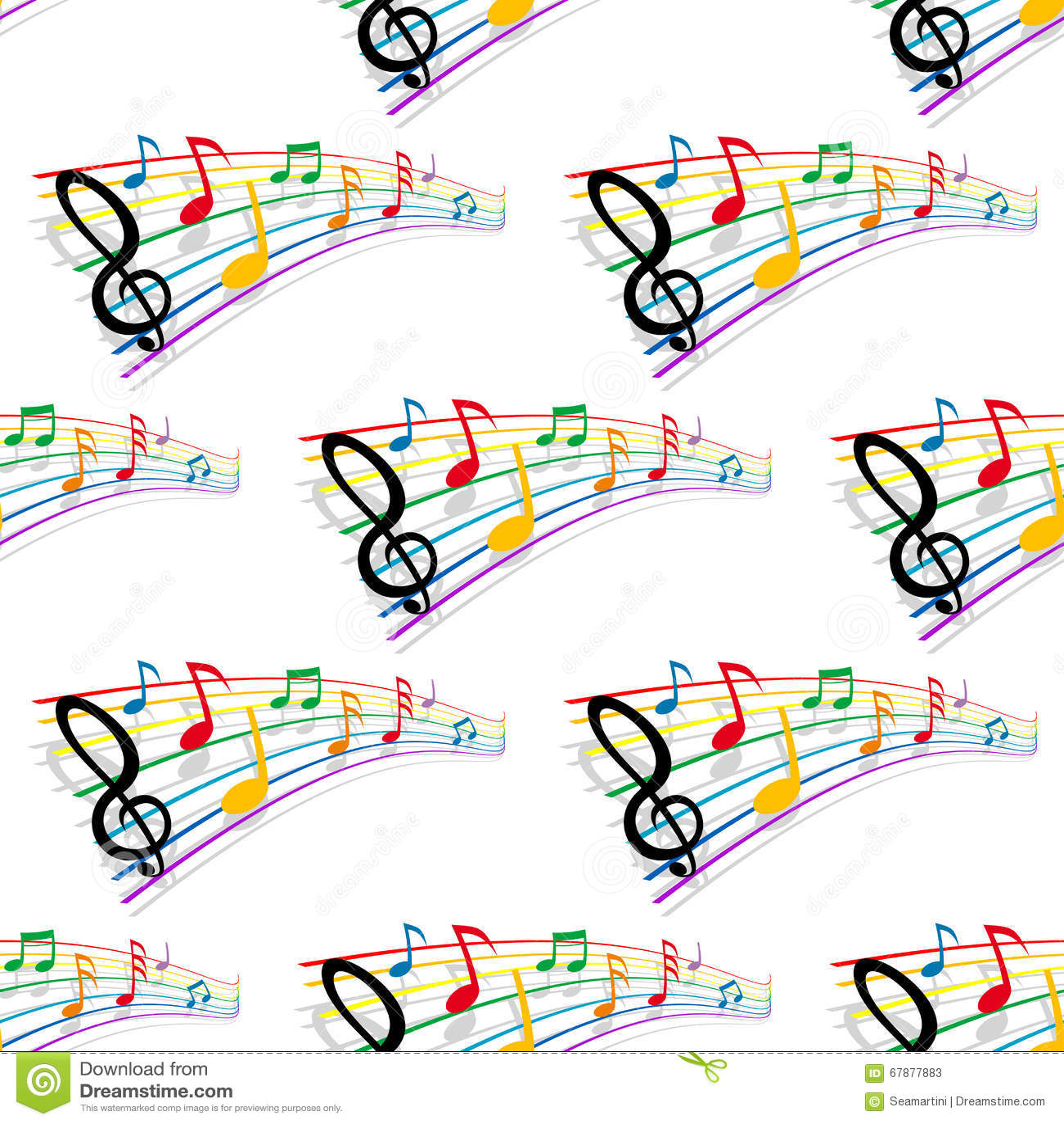 Безшовная картина музыкальных примечаний