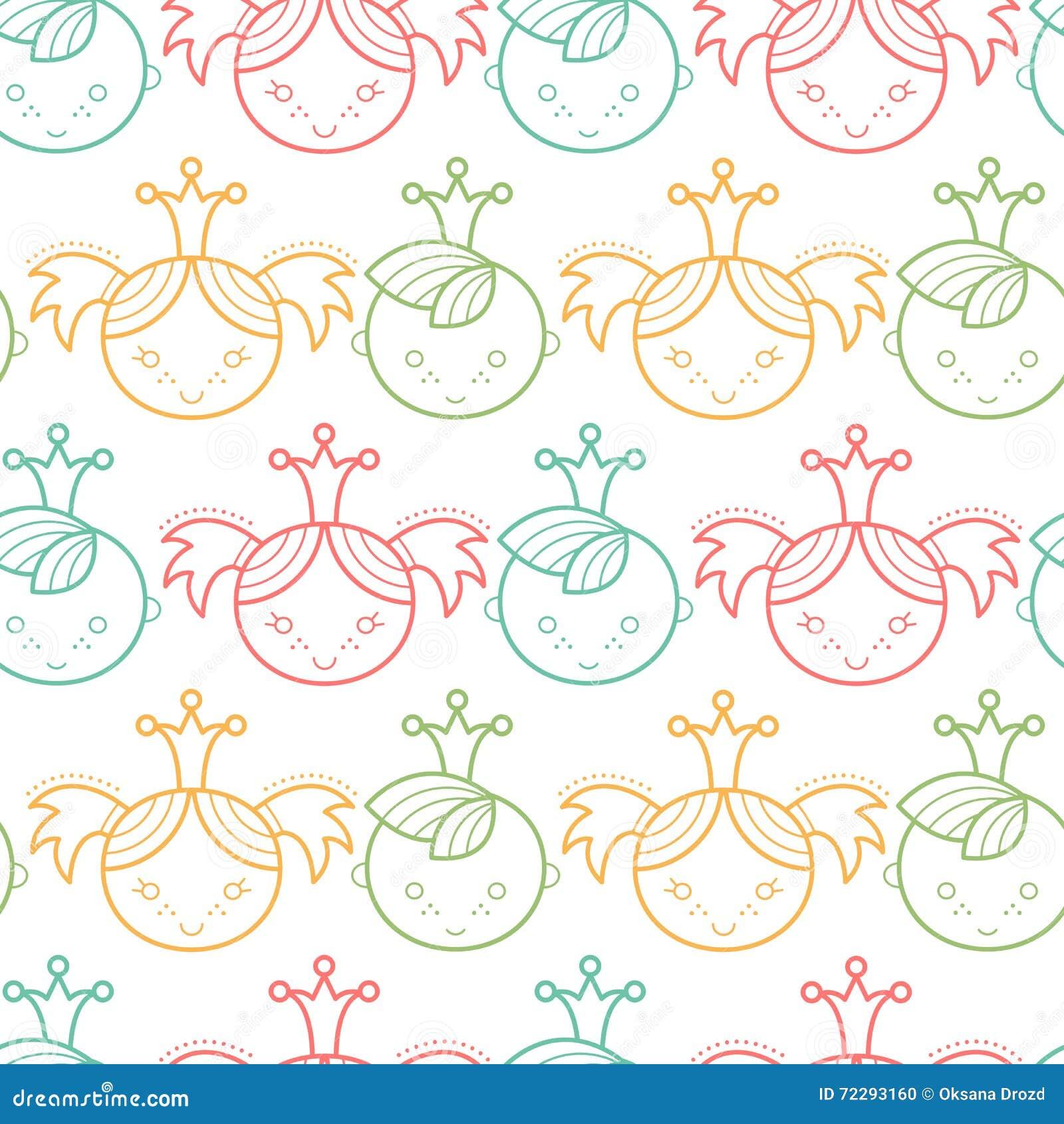 Download Безшовная картина младенца с красочными Babyish элементами Иллюстрация вектора - иллюстрации насчитывающей просто, девушка: 72293160