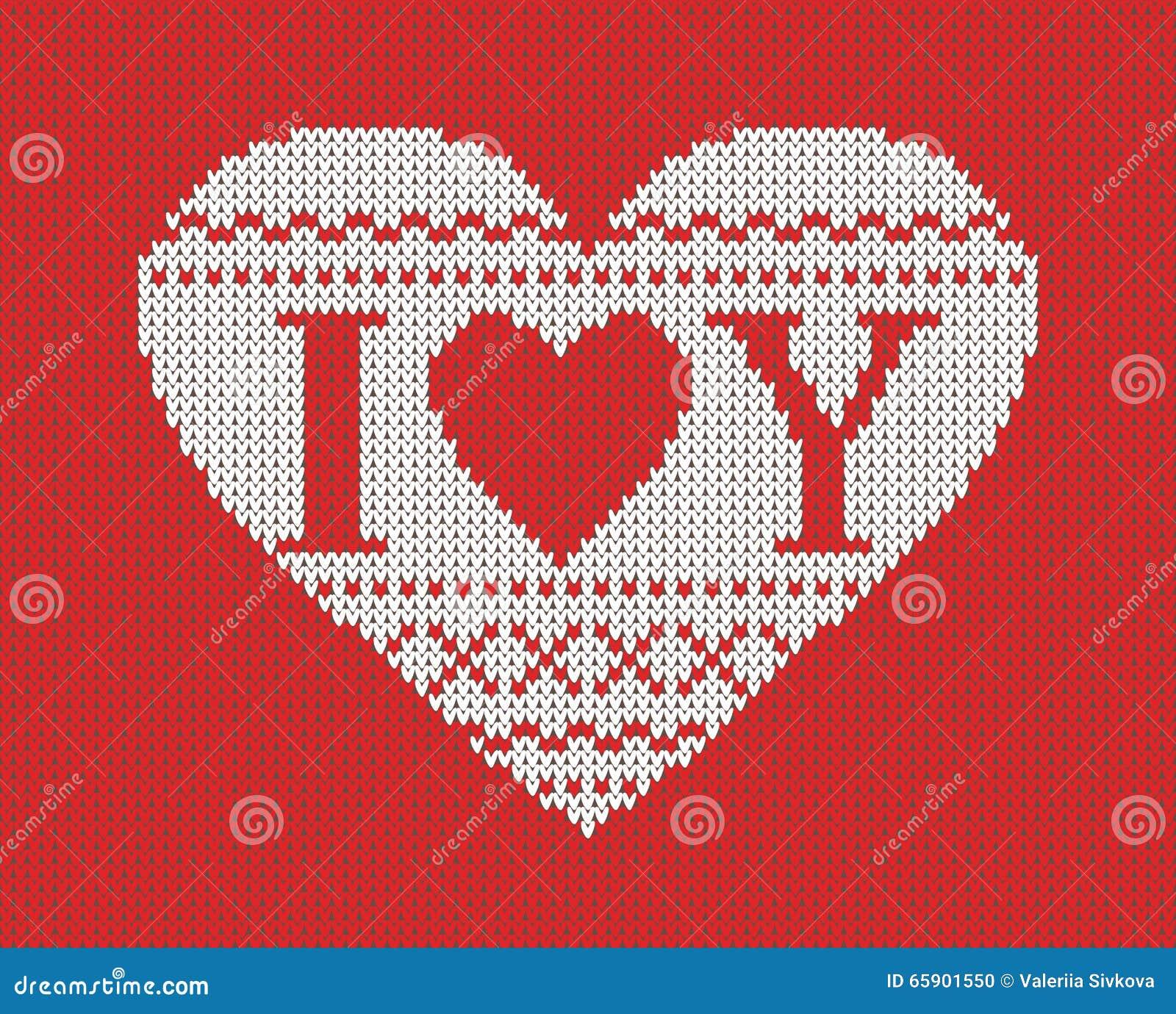 Безшовная картина на теме дня валентинки с изображением картин и сердец норвежца Связанные шерсти