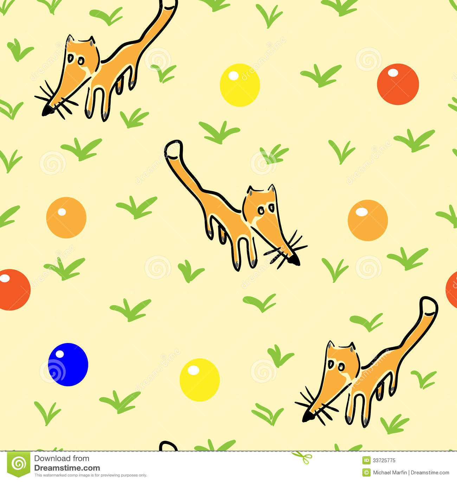 Безшовная картина с лисами
