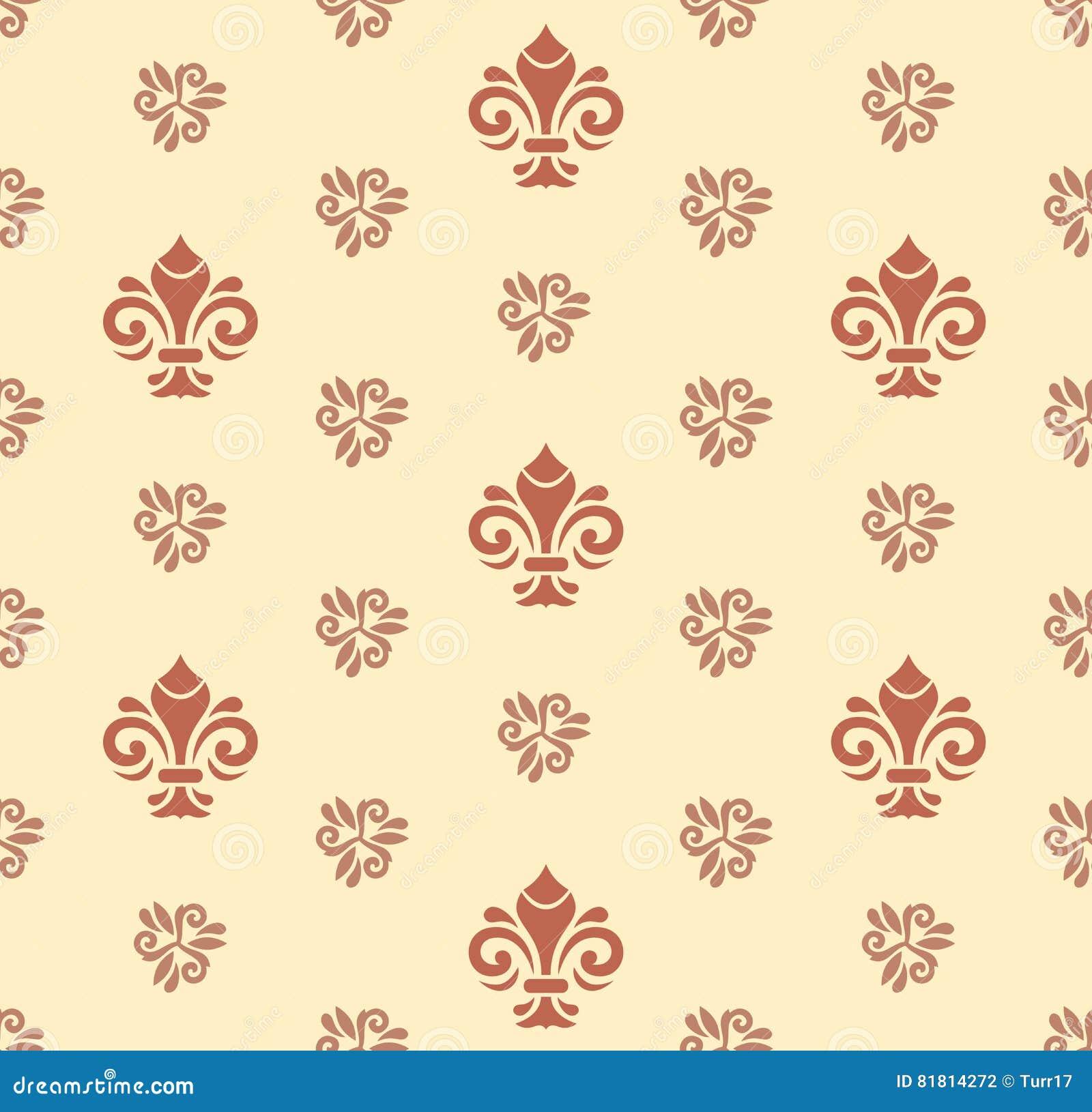 Безшовная картина с королевской лилией