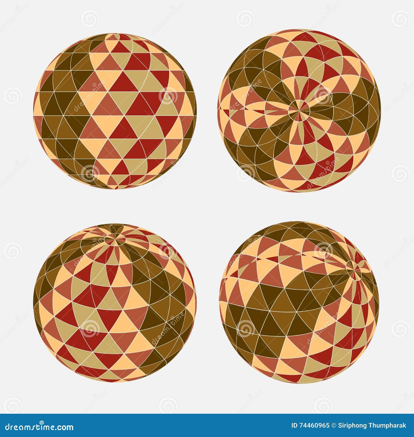Безшовная картина треугольника в форме круга Предпосылка вектора