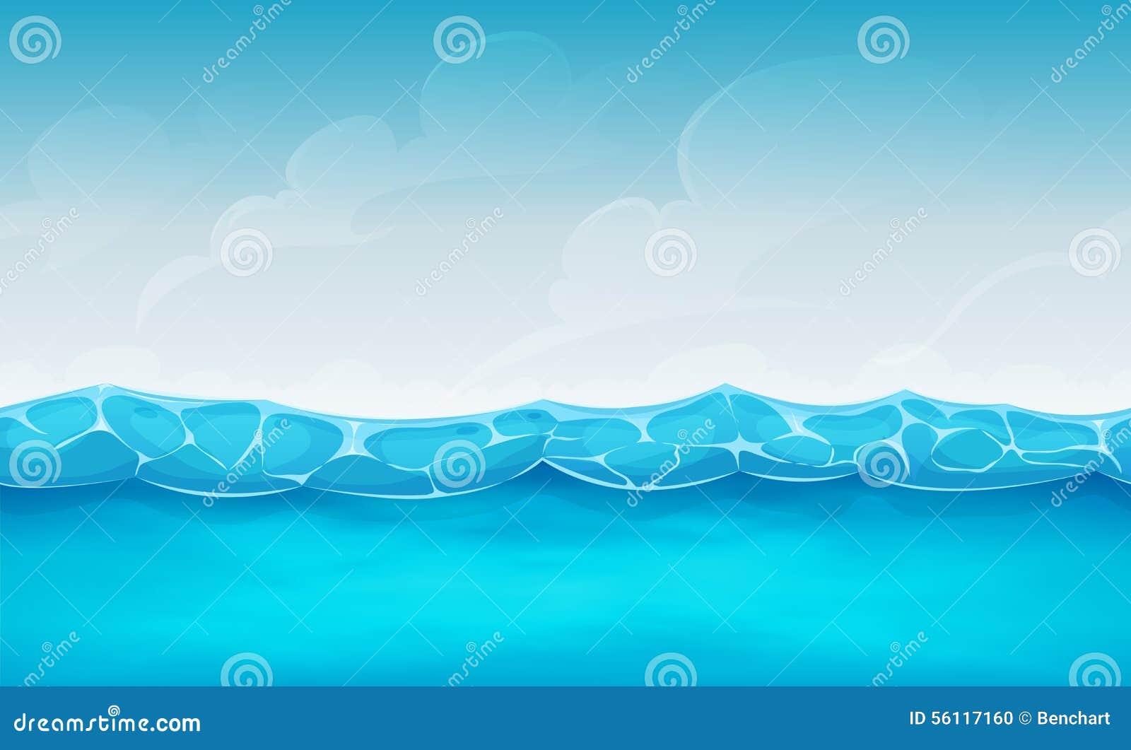 Безшовная предпосылка океана лета для игры Ui