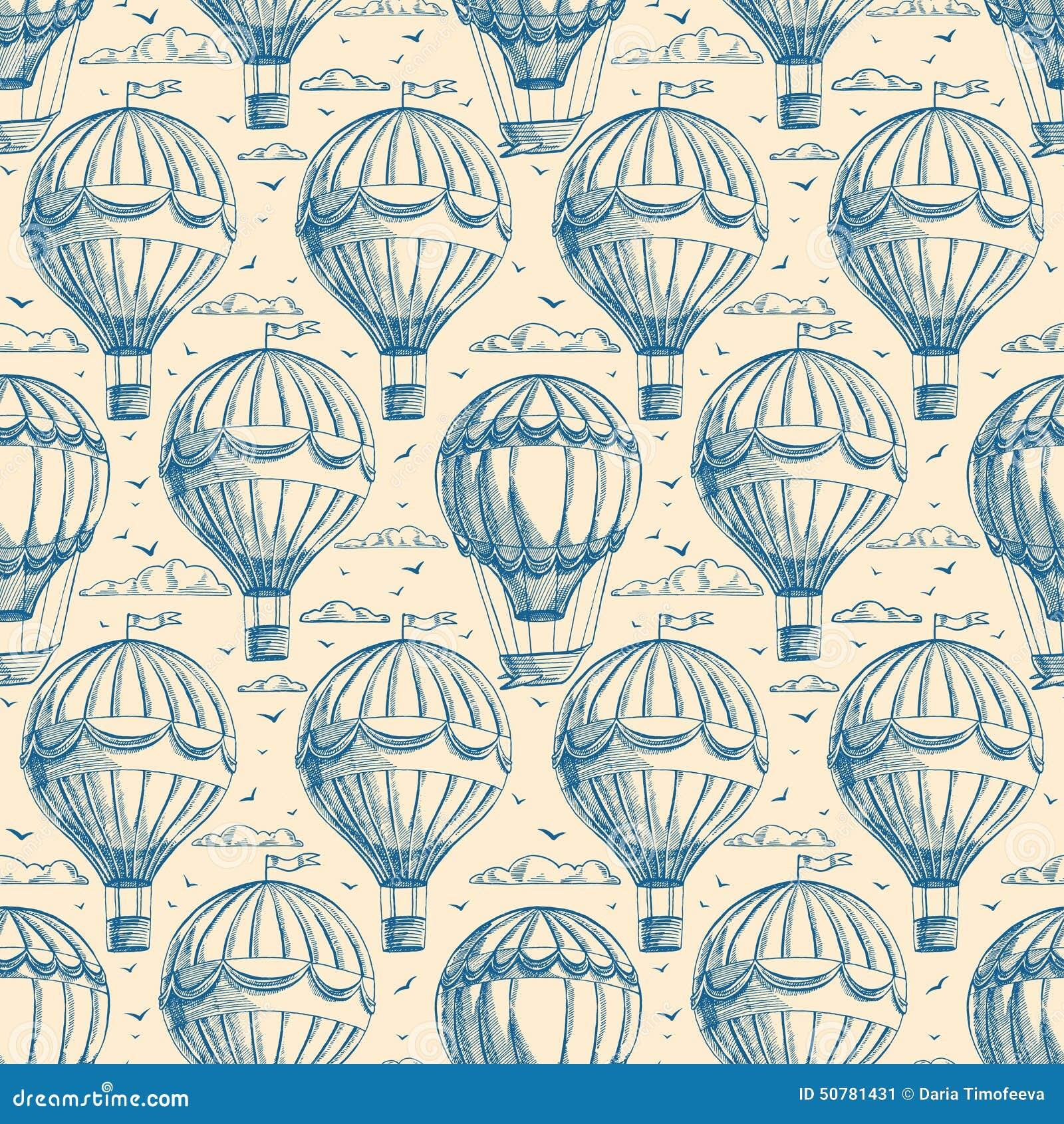 Безшовная предпосылка с воздушными шарами
