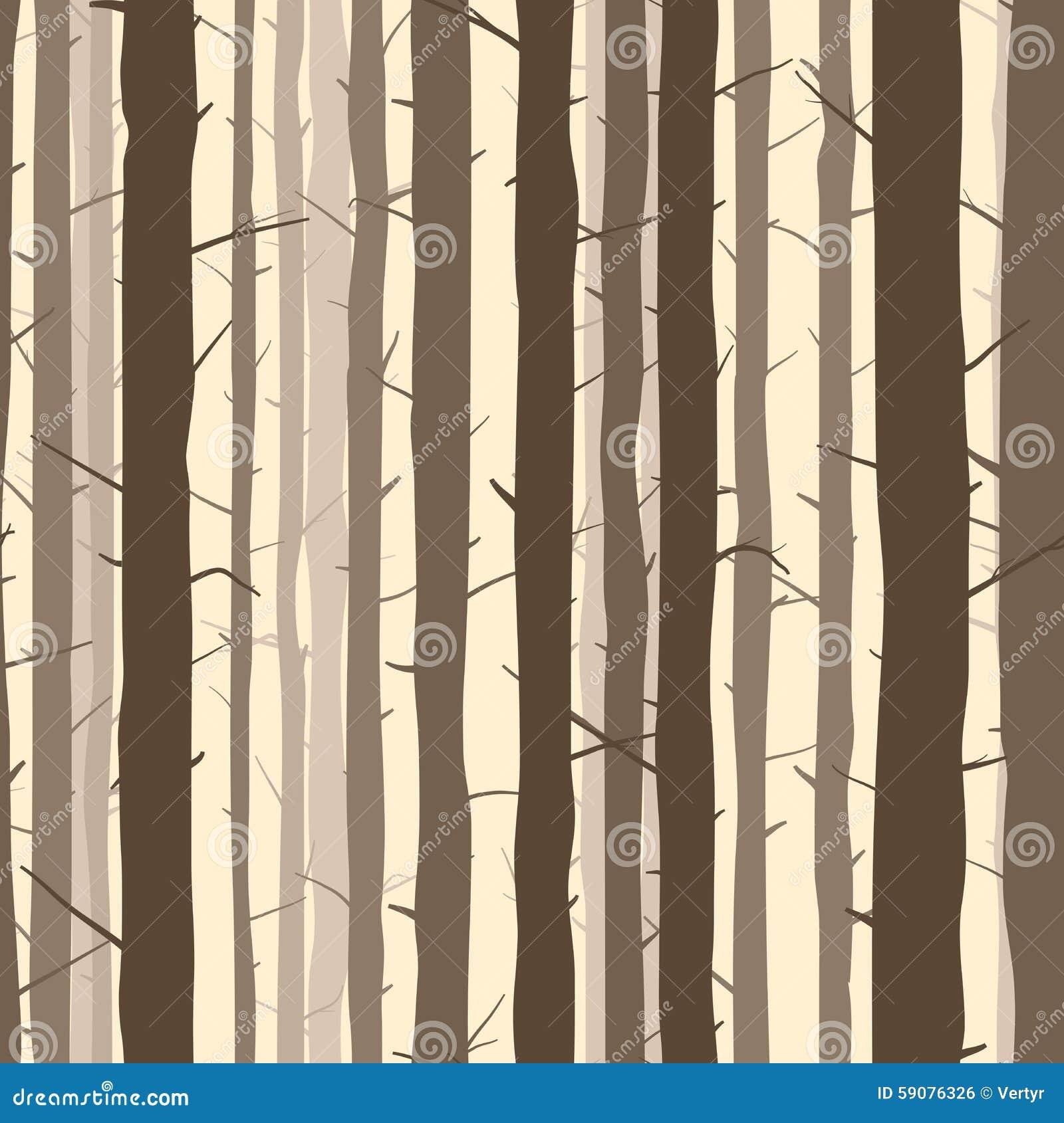 Безшовная предпосылка с много стволов дерева