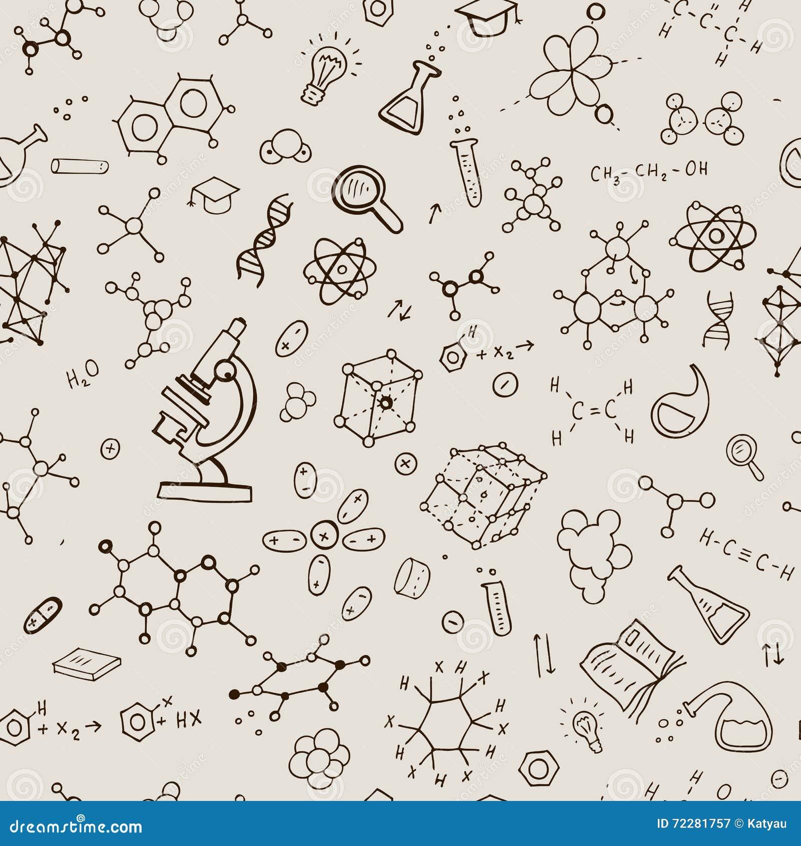 Download Безшовная предпосылка химии Иллюстрация вектора - иллюстрации насчитывающей чертеж, коллеж: 72281757