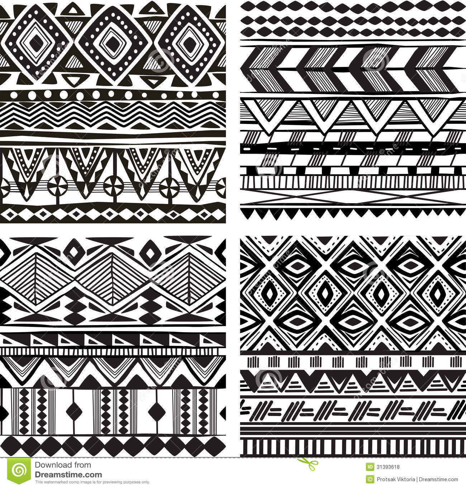 Безшовная племенная текстура