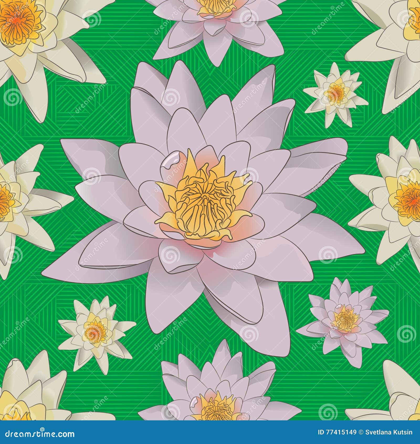 Безшовная флористическая предпосылка с белыми лилиями