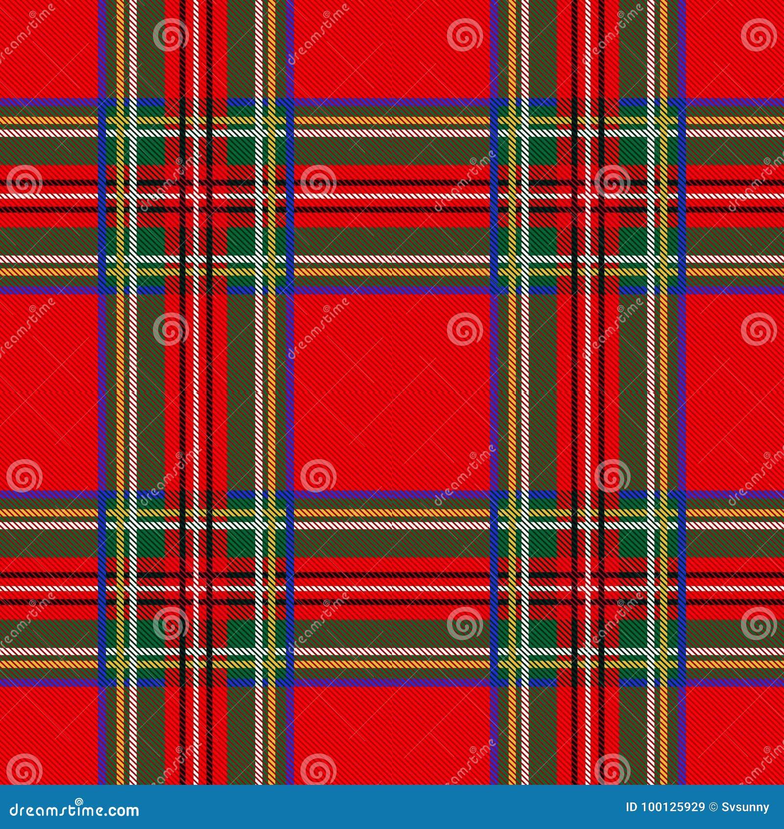 Безшовная шотландка предпосылки картины тартана Украшение рождества, шотландский орнамент