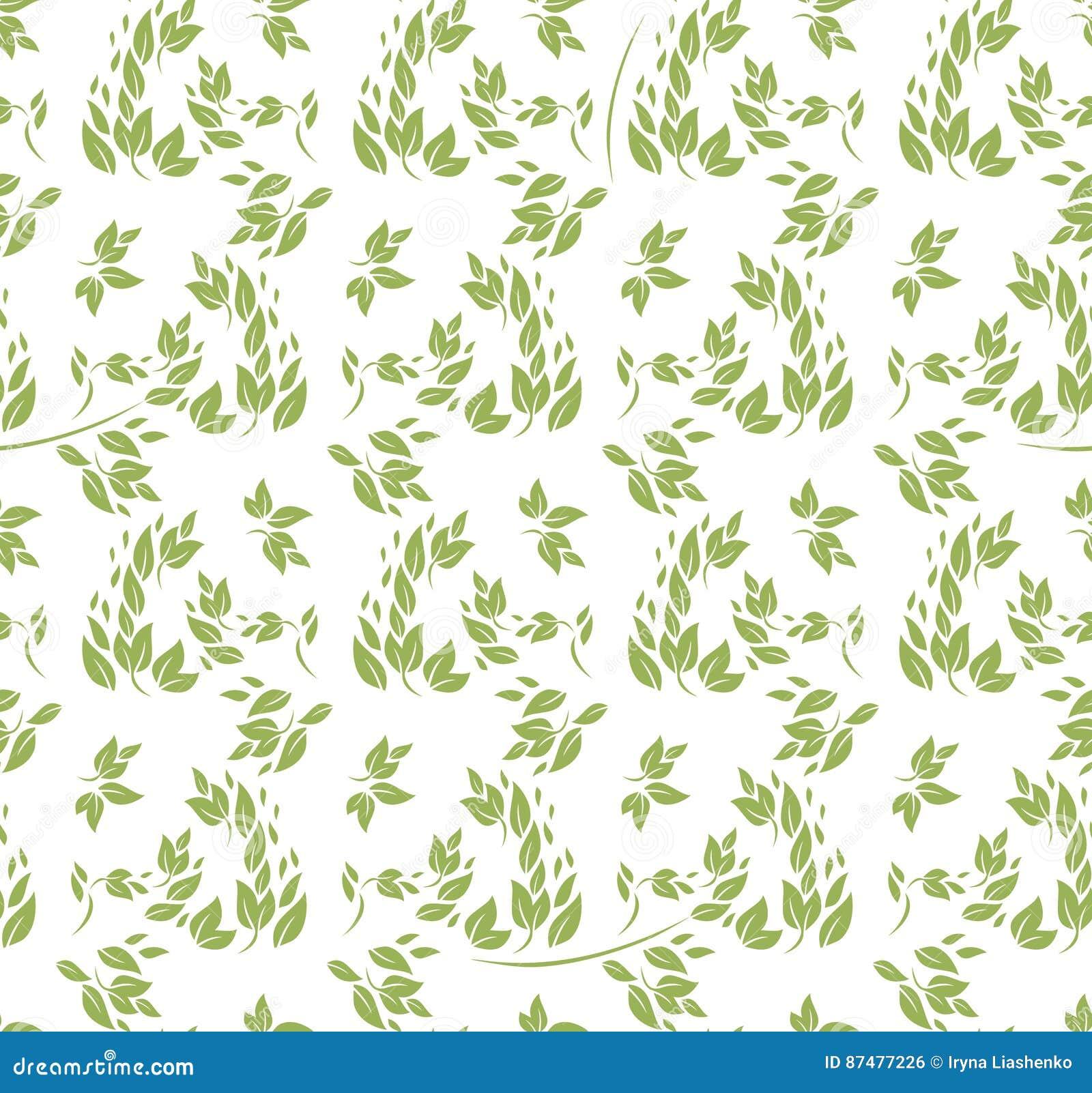 Безшовные листья зеленого цвета картины