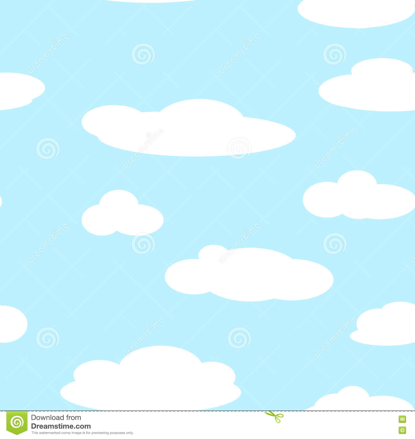 Безшовные картины предпосылки неба с облаками вектор