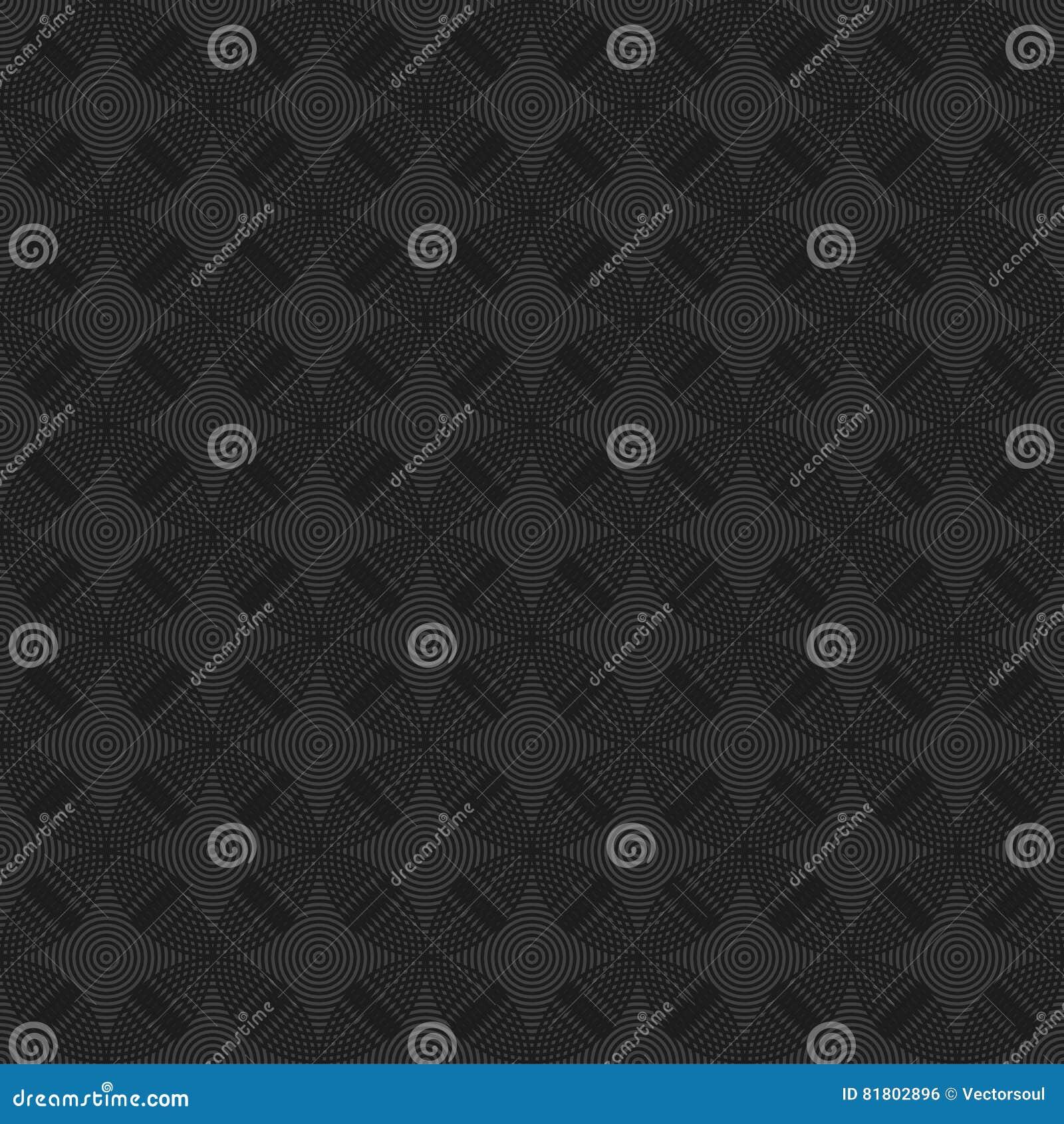 Безшовные круги, кольца черные/белая геометрическая картина