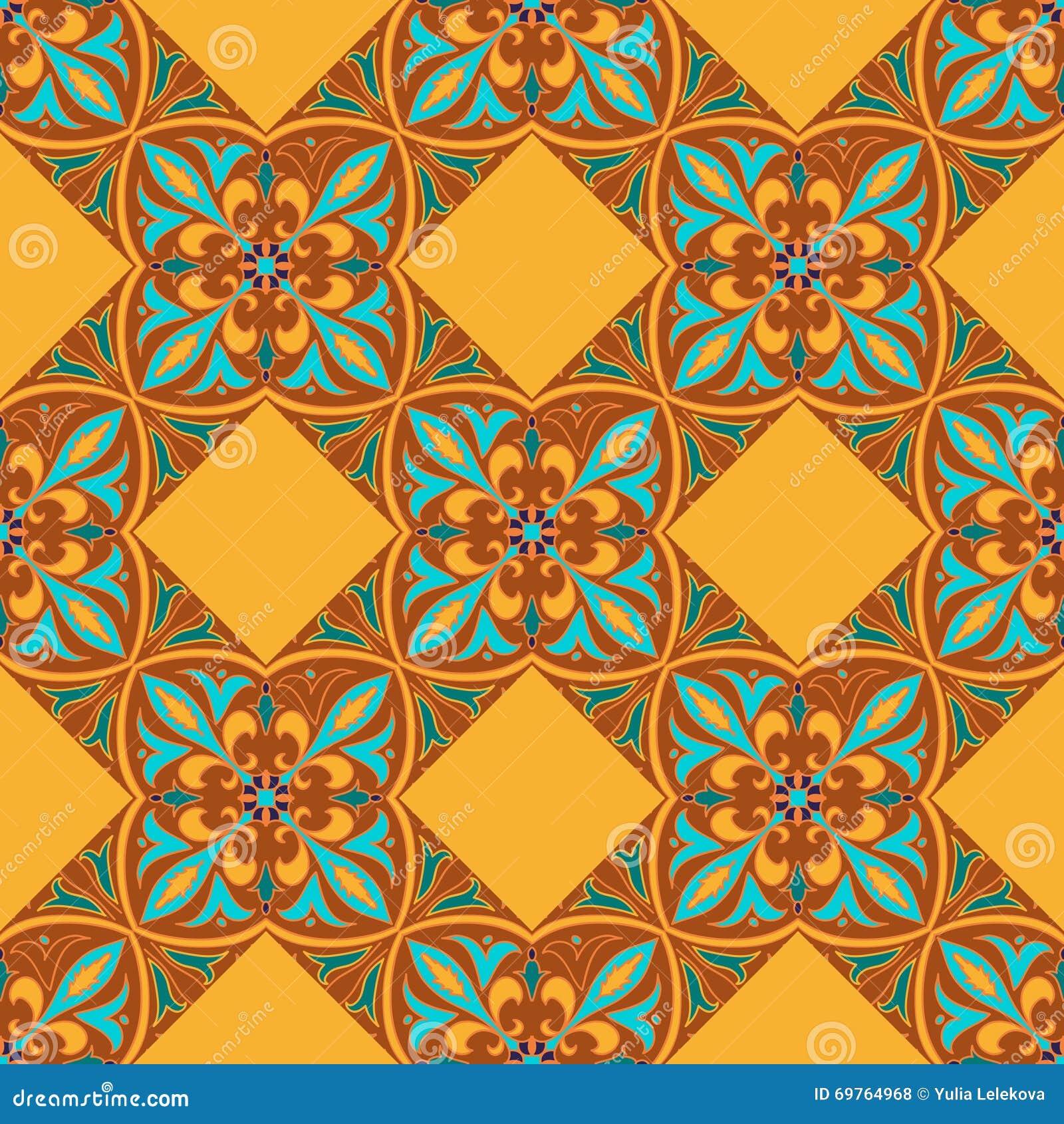 безшовный вектор текстуры Красивая покрашенная картина для дизайна и мода с декоративными элементами