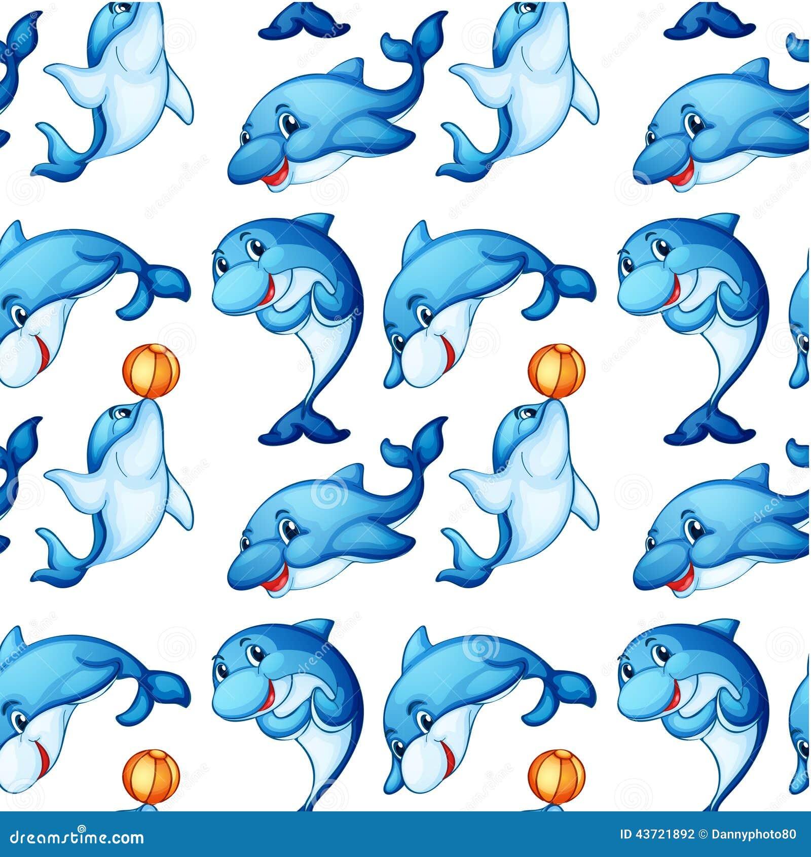 Безшовный дизайн дельфинов