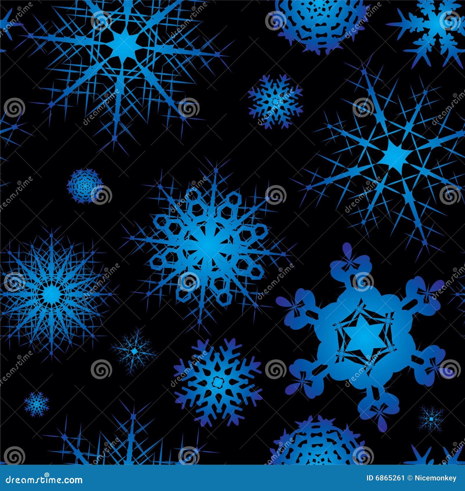 безшовный квадрат снежинки