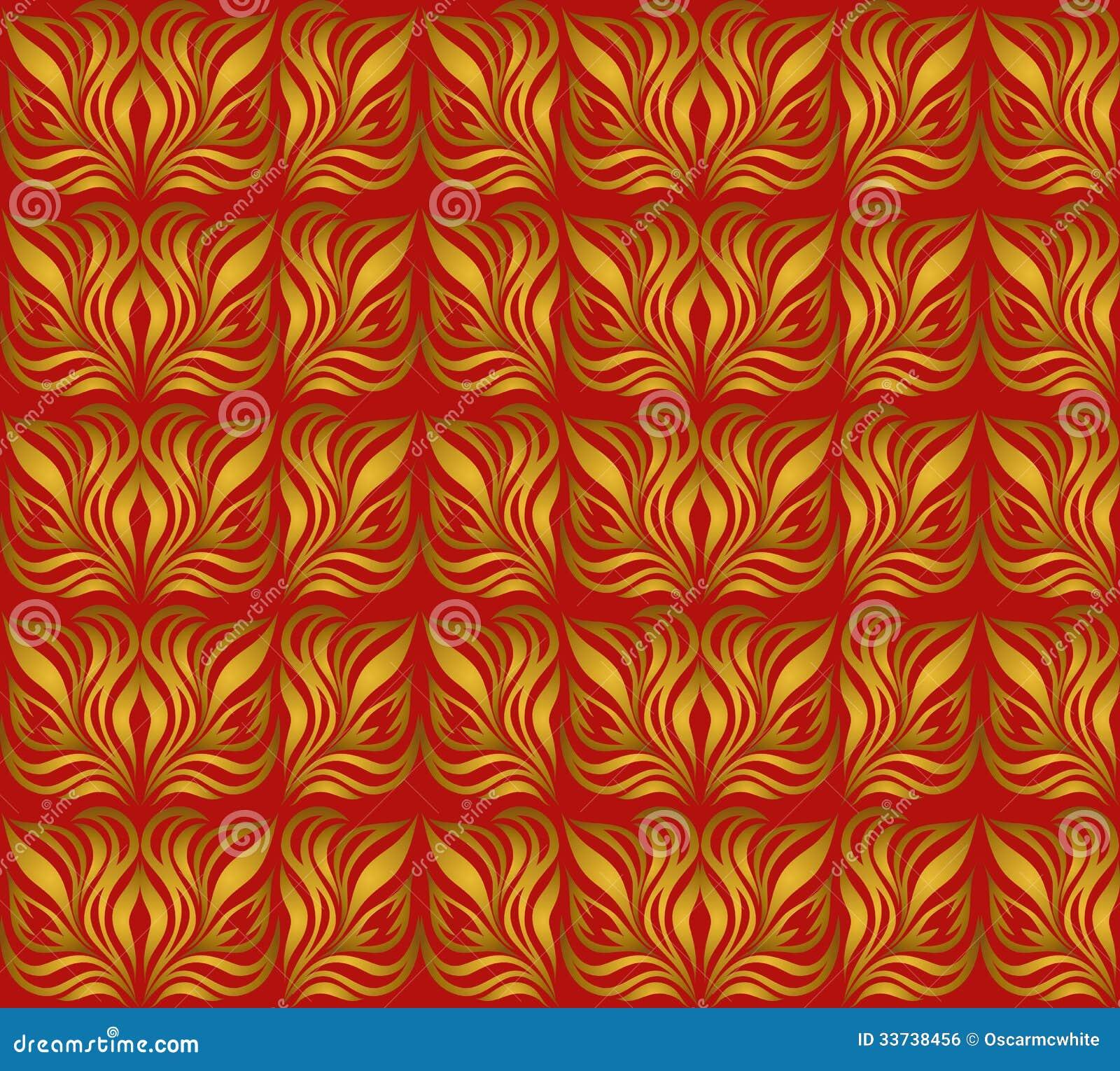 Безшовный орнамент с листовым золотом
