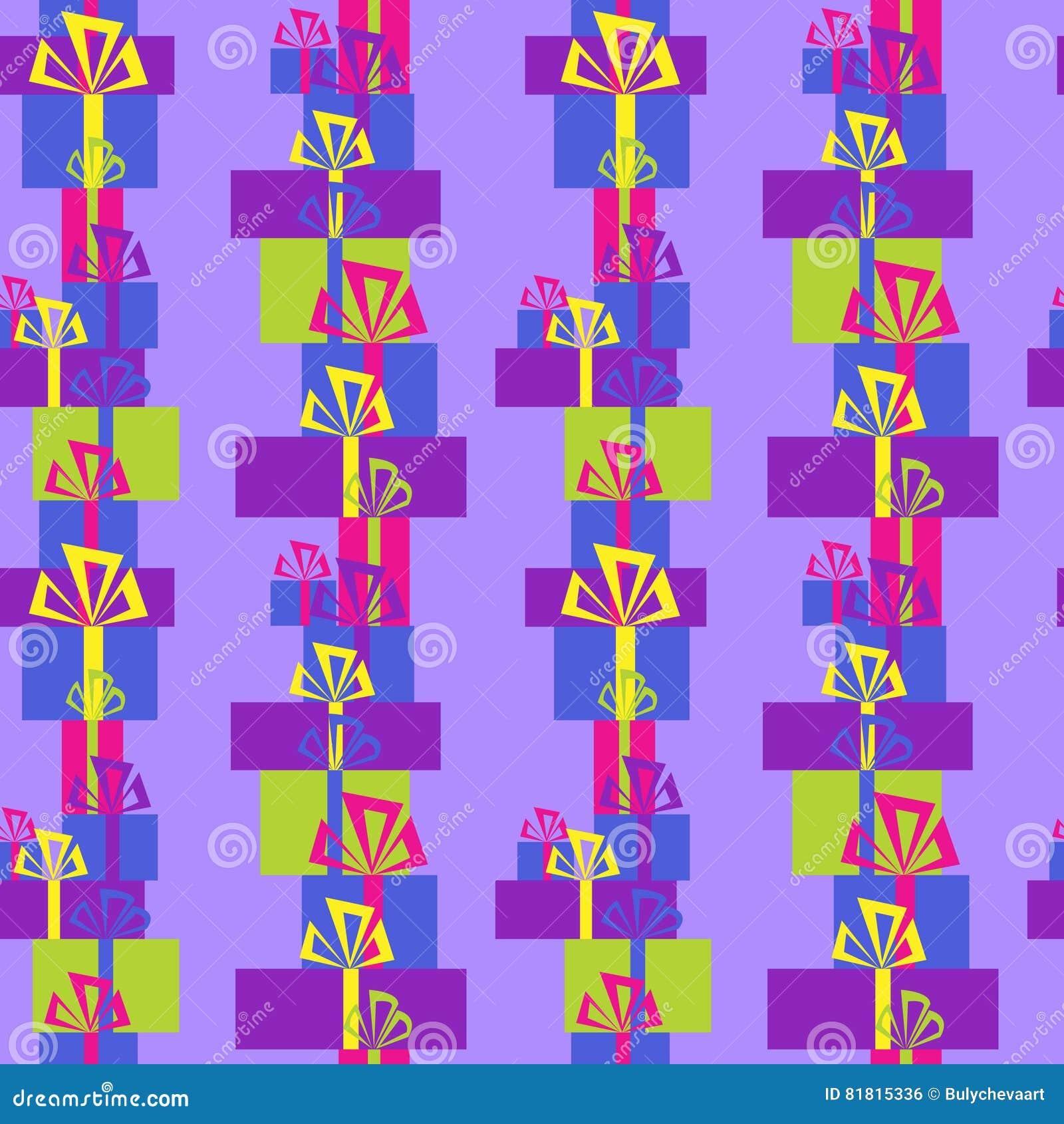 Безшовный орнамент с разнообразие праздничными подарками