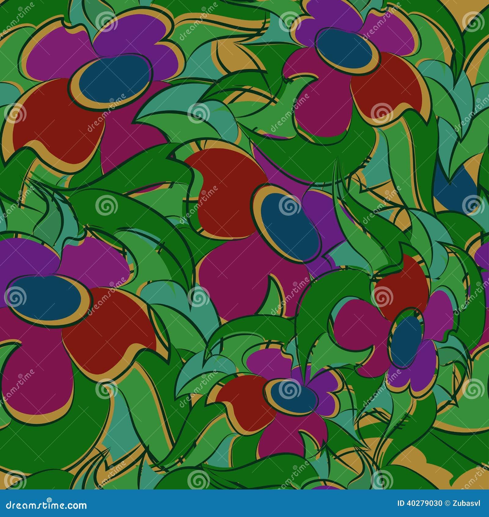 Безшовный цветочный узор