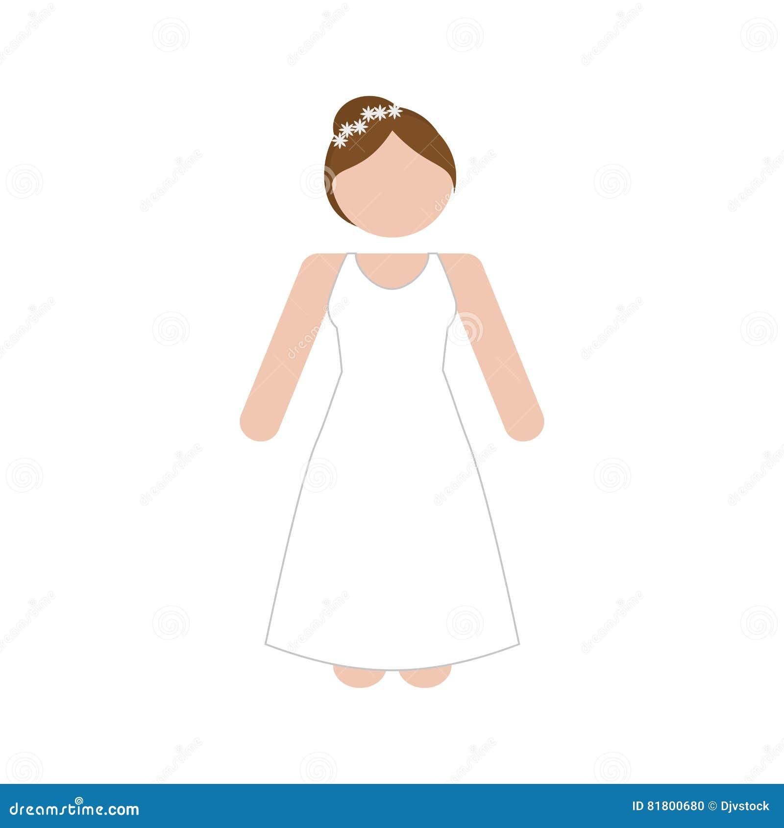Безликое изображение значка женщины