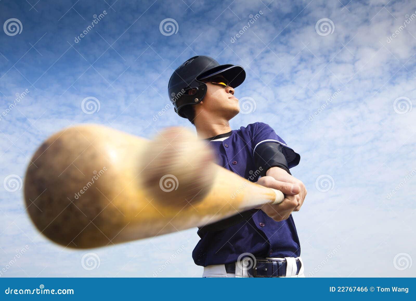 бейсбол ударяя игрока