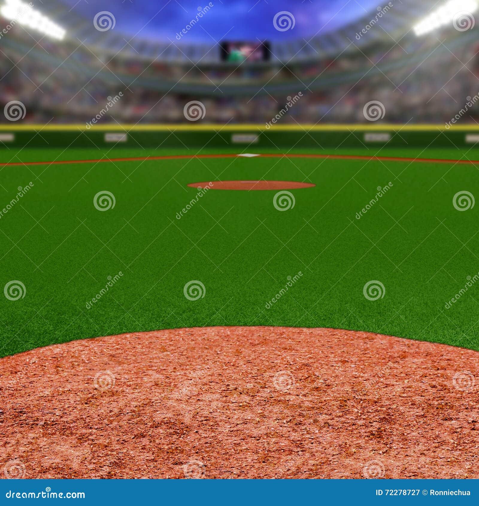 Download Бейсбольный стадион с космосом экземпляра Стоковое Изображение - изображение насчитывающей пирофакел, лига: 72278727