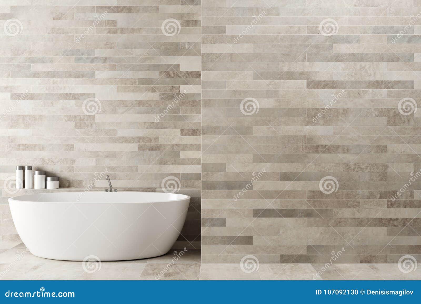 Белая деревянная ванная комната, ушат