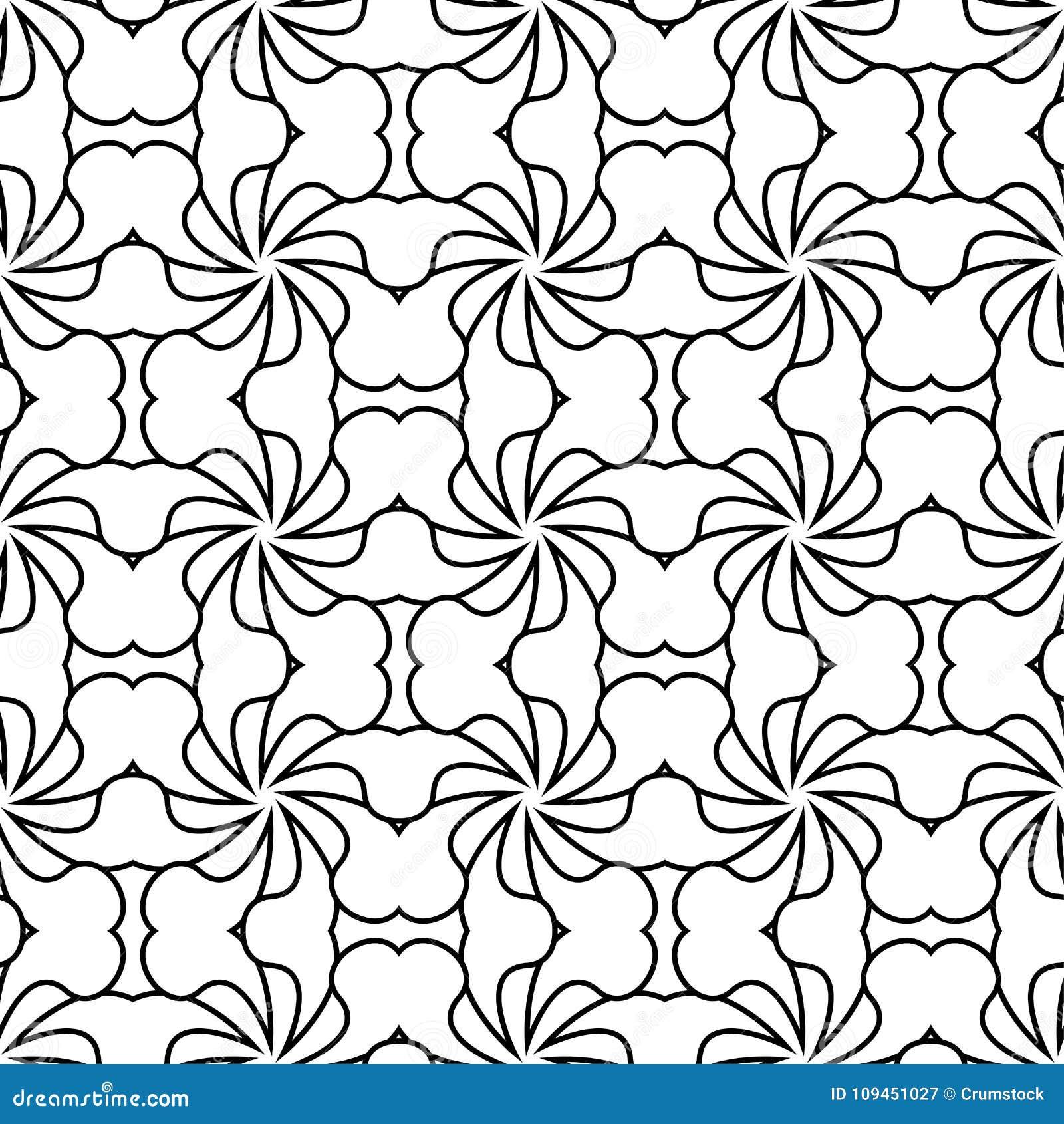 Белая и черная геометрическая безшовная картина