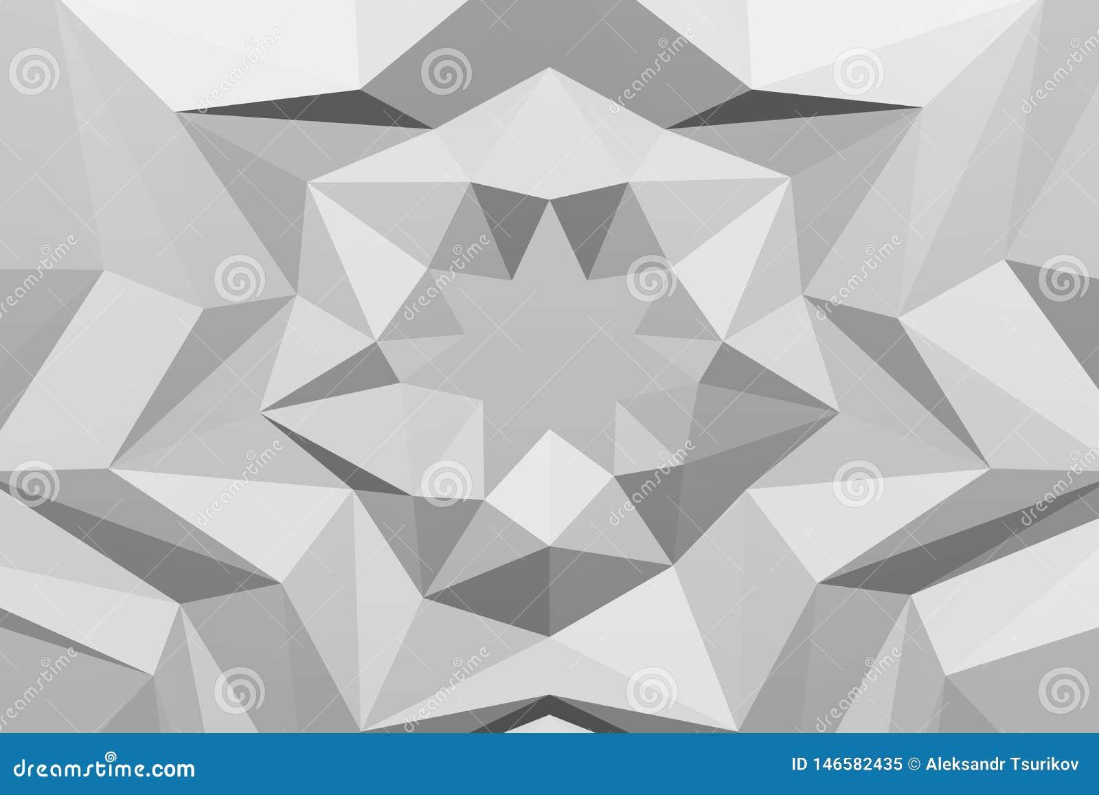 Белая полигональная геометрическая поверхностная предпосылка r