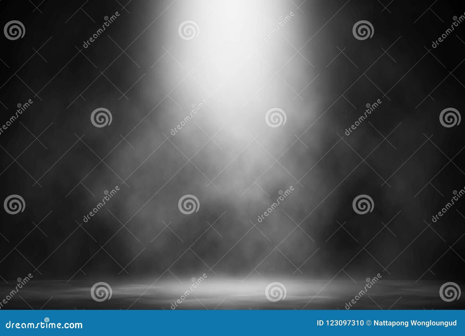 Белая фара дыма на этапе пола