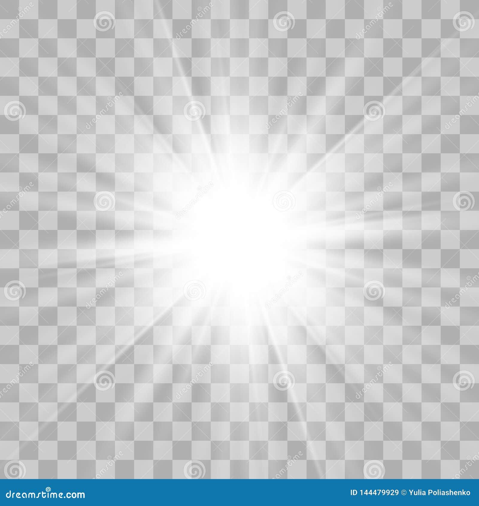 Белизна звезды взрывает на прозрачной предпосылке