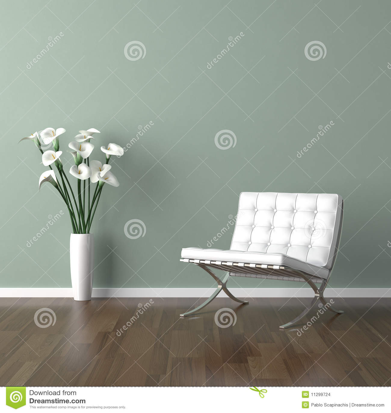 белизна зеленого цвета стула barcelona