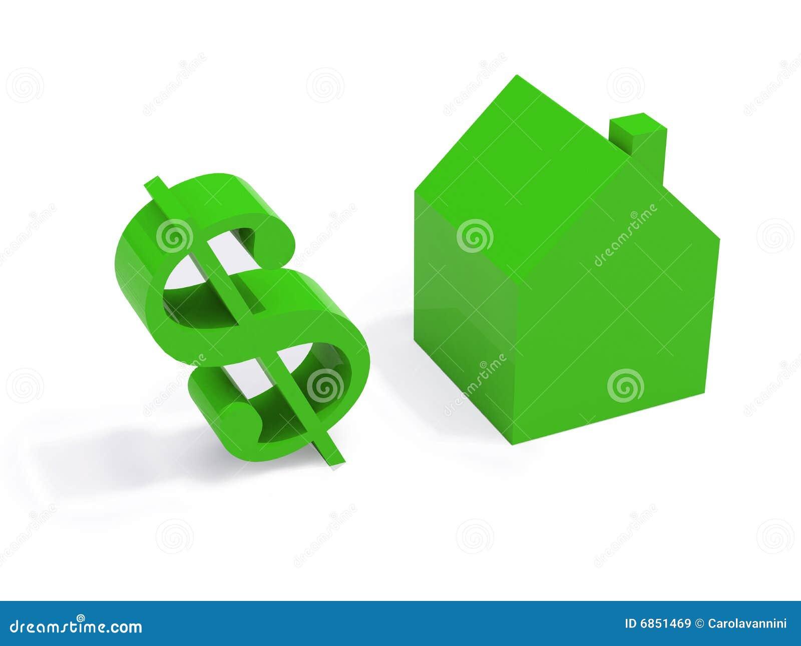 белизна зеленой дома предпосылки