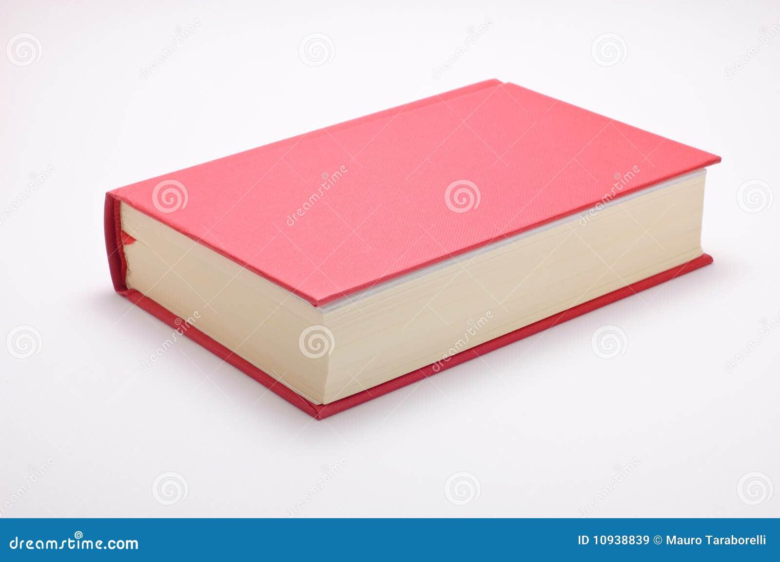 белизна изолированная книгой красная