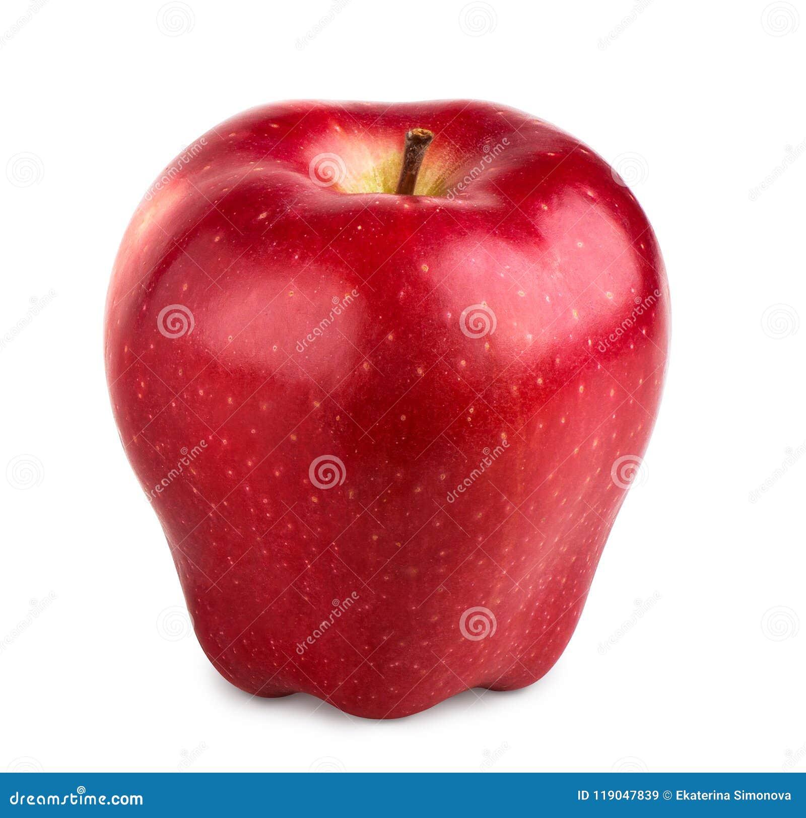белизна изолированная яблоком красная