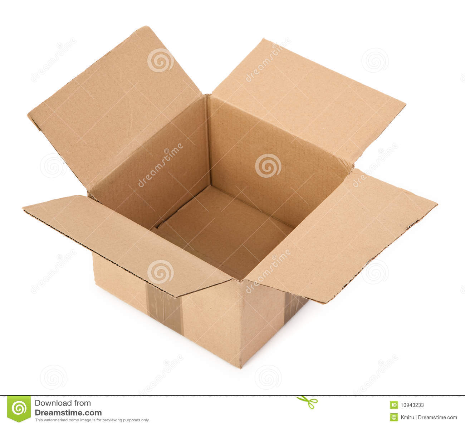 белизна картона коробки открытая