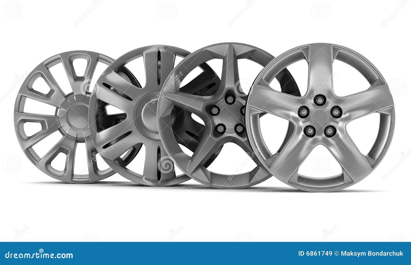 белизна колеса дисков 4 изолированная