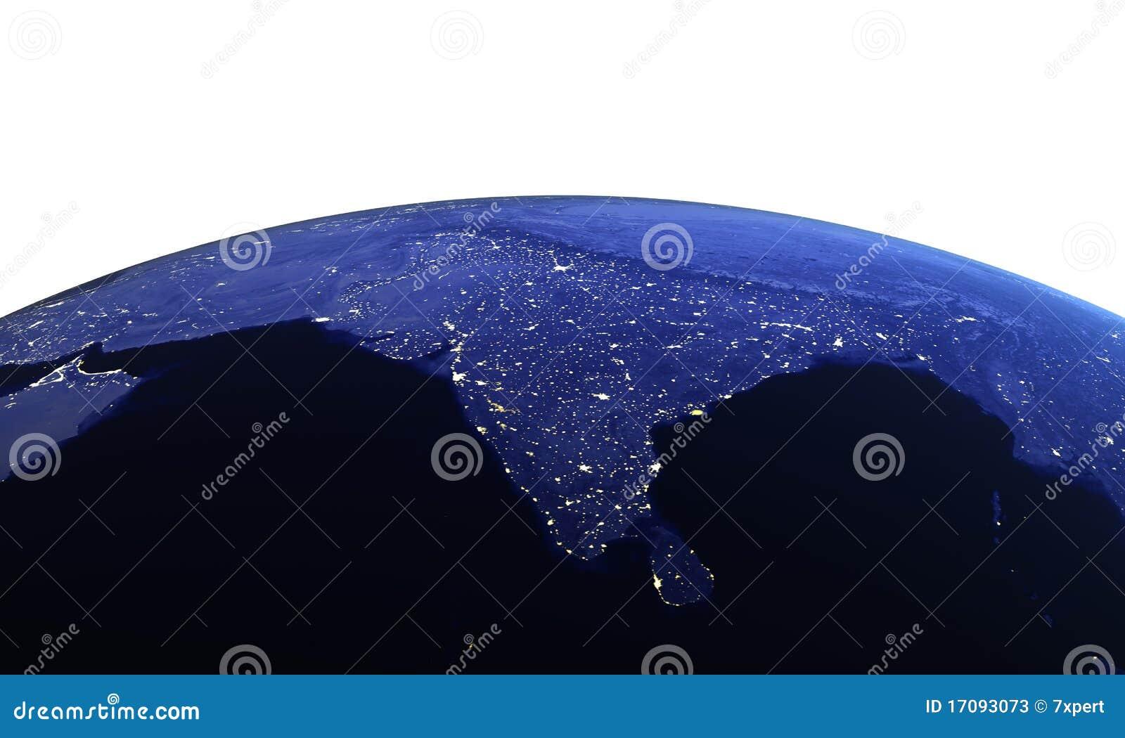 белизна космоса Индии