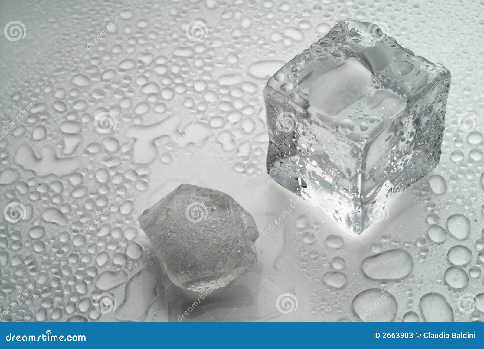 белизна льда плавя