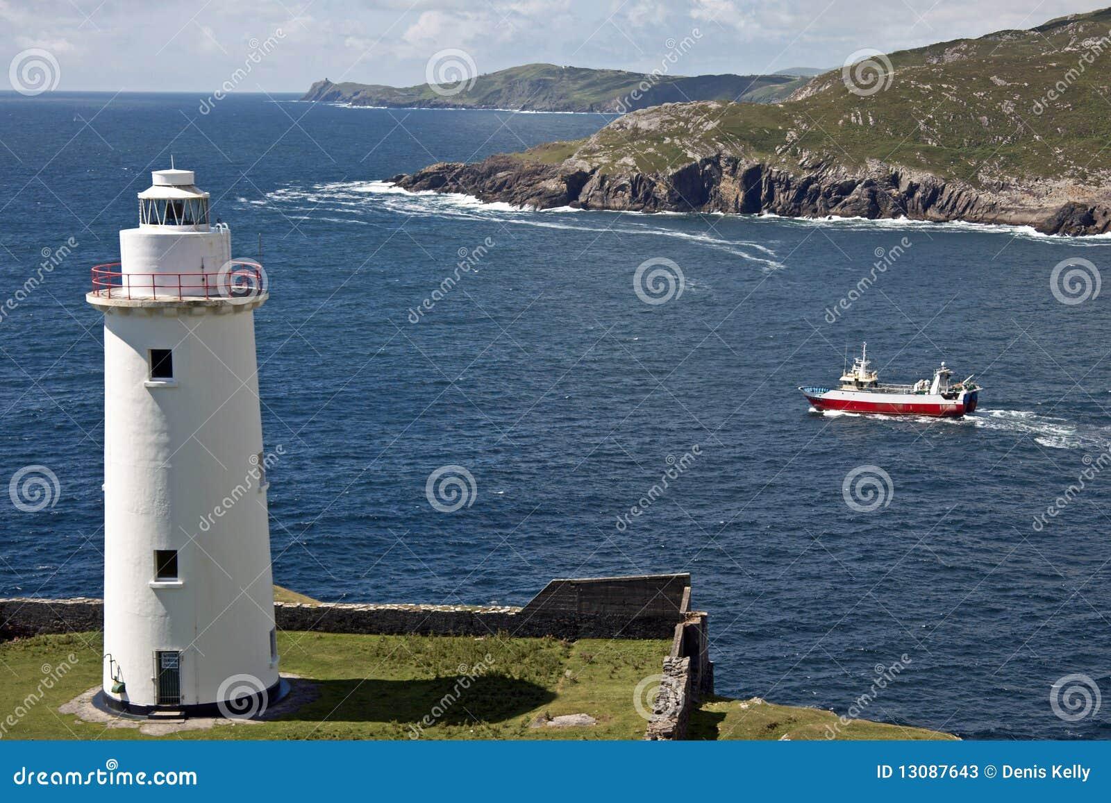 белизна маяка Ирландии графства пробочки