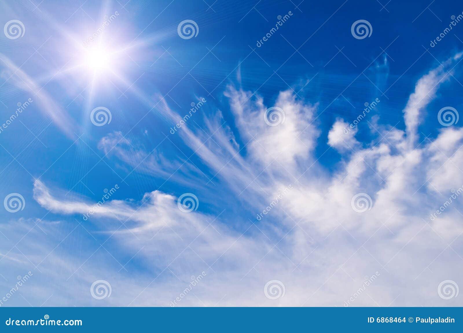 белизна неба голубых облаков пушистая излишек